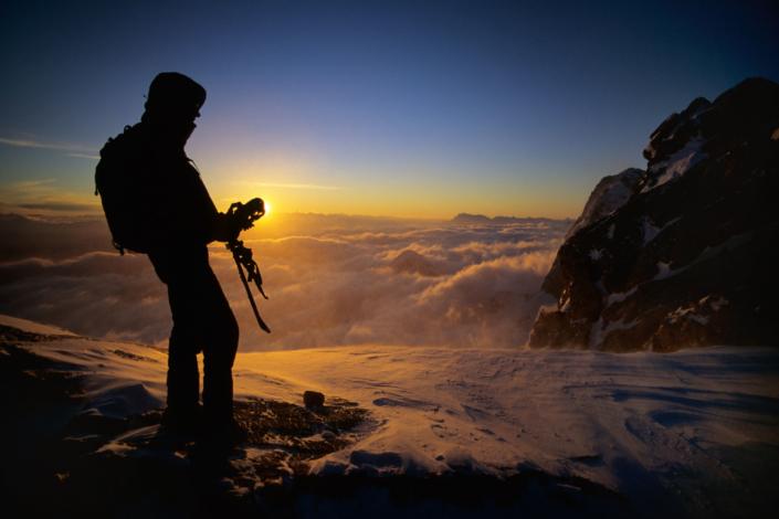 Guten Morgen am Dachstein Gletscher